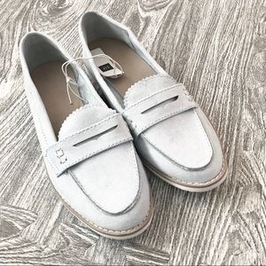 Powder Blue Sueded Loafers